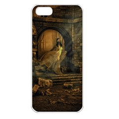 Woman Lost Model Alone Apple iPhone 5 Seamless Case (White)