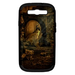Woman Lost Model Alone Samsung Galaxy S III Hardshell Case (PC+Silicone)