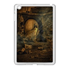 Woman Lost Model Alone Apple iPad Mini Case (White)