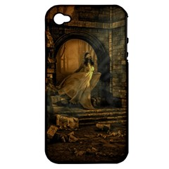 Woman Lost Model Alone Apple iPhone 4/4S Hardshell Case (PC+Silicone)