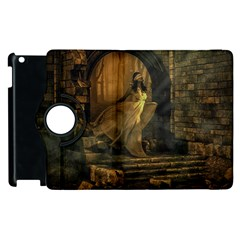 Woman Lost Model Alone Apple iPad 3/4 Flip 360 Case
