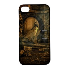 Woman Lost Model Alone Apple iPhone 4/4S Hardshell Case with Stand