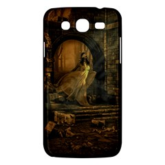 Woman Lost Model Alone Samsung Galaxy Mega 5.8 I9152 Hardshell Case