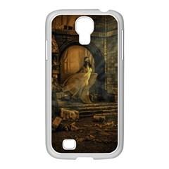 Woman Lost Model Alone Samsung Galaxy S4 I9500/ I9505 Case (white)