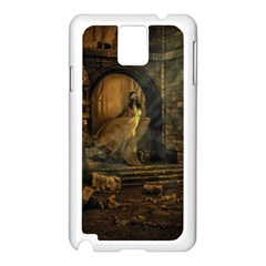 Woman Lost Model Alone Samsung Galaxy Note 3 N9005 Case (White)