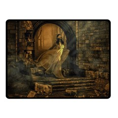 Woman Lost Model Alone Double Sided Fleece Blanket (Small)
