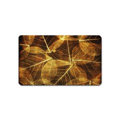 Leaves Autumn Texture Brown Magnet (name Card)