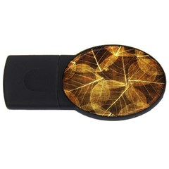 Leaves Autumn Texture Brown Usb Flash Drive Oval (2 Gb)