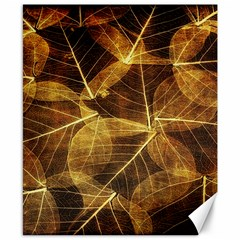 Leaves Autumn Texture Brown Canvas 8  X 10