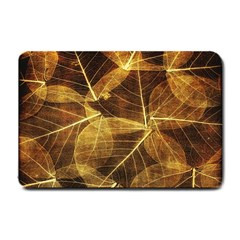 Leaves Autumn Texture Brown Small Doormat