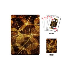 Leaves Autumn Texture Brown Playing Cards (mini)