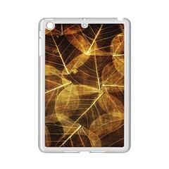 Leaves Autumn Texture Brown iPad Mini 2 Enamel Coated Cases