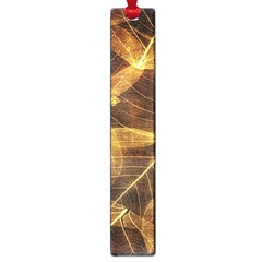 Leaves Autumn Texture Brown Large Book Marks