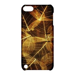 Leaves Autumn Texture Brown Apple iPod Touch 5 Hardshell Case with Stand