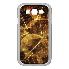 Leaves Autumn Texture Brown Samsung Galaxy Grand Duos I9082 Case (white)