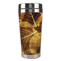 Leaves Autumn Texture Brown Stainless Steel Travel Tumblers