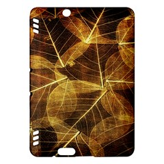 Leaves Autumn Texture Brown Kindle Fire HDX Hardshell Case
