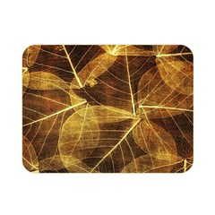 Leaves Autumn Texture Brown Double Sided Flano Blanket (mini)