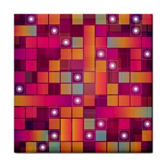 Abstract Background Colorful Tile Coasters