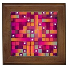Abstract Background Colorful Framed Tiles