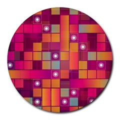 Abstract Background Colorful Round Mousepads