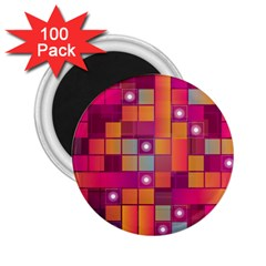 Abstract Background Colorful 2.25  Magnets (100 pack)