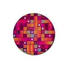Abstract Background Colorful Rubber Coaster (Round)