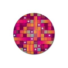 Abstract Background Colorful Magnet 3  (Round)