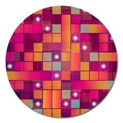 Abstract Background Colorful Magnet 5  (Round)