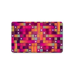 Abstract Background Colorful Magnet (Name Card)