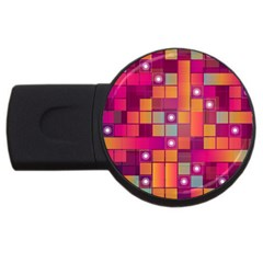 Abstract Background Colorful USB Flash Drive Round (1 GB)