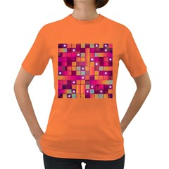 Abstract Background Colorful Women s Dark T Shirt