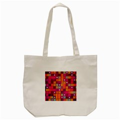 Abstract Background Colorful Tote Bag (cream)