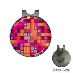 Abstract Background Colorful Hat Clips with Golf Markers