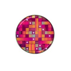 Abstract Background Colorful Hat Clip Ball Marker (4 pack)