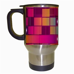 Abstract Background Colorful Travel Mugs (white)