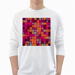 Abstract Background Colorful White Long Sleeve T Shirts