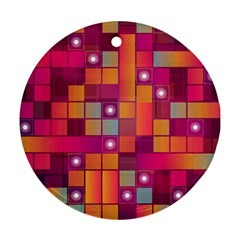 Abstract Background Colorful Round Ornament (Two Sides)