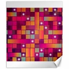 Abstract Background Colorful Canvas 8  x 10