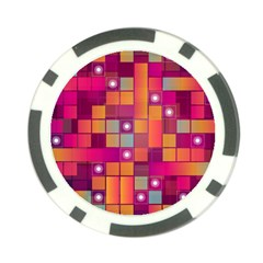 Abstract Background Colorful Poker Chip Card Guard