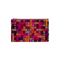 Abstract Background Colorful Cosmetic Bag (Small)