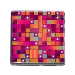 Abstract Background Colorful Memory Card Reader (square)