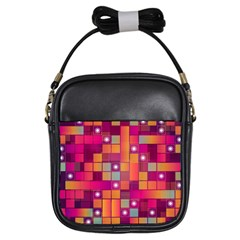 Abstract Background Colorful Girls Sling Bags