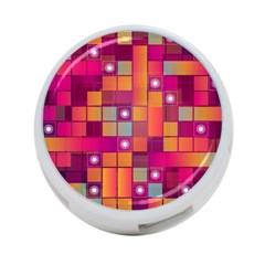 Abstract Background Colorful 4-Port USB Hub (One Side)