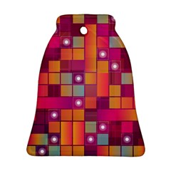 Abstract Background Colorful Bell Ornament (Two Sides)