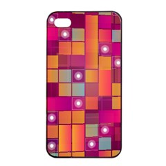 Abstract Background Colorful Apple iPhone 4/4s Seamless Case (Black)