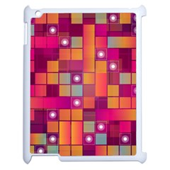 Abstract Background Colorful Apple iPad 2 Case (White)