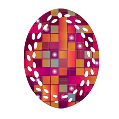 Abstract Background Colorful Ornament (Oval Filigree)