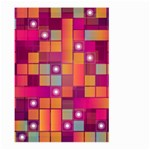 Abstract Background Colorful Large Garden Flag (Two Sides) Back