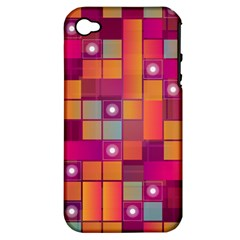 Abstract Background Colorful Apple Iphone 4/4s Hardshell Case (pc+silicone)